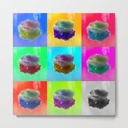 Crown Jellyfish Pop Art Metal Print