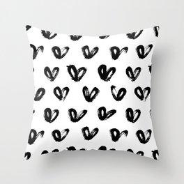 Love Pattern Throw Pillow