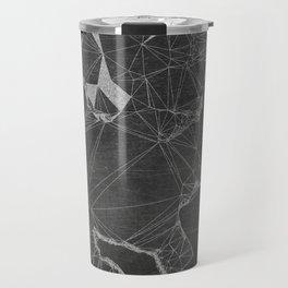 Chalk Board Geometric Bull Dog Puppy Travel Mug