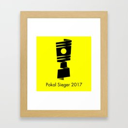 Pokal Sieger 2017 ! - Black Edition Framed Art Print