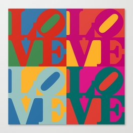 Love Pop Art Canvas Print