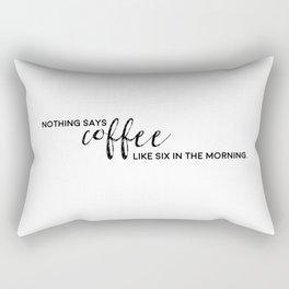 Typographic Coffee Quote Rectangular Pillow
