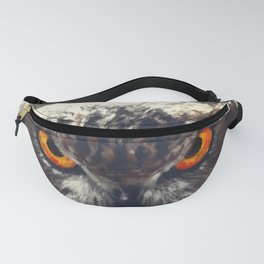 owl look digital painting orcfn Fanny Pack