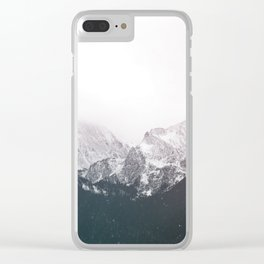 Snow on the Mountains Clear iPhone Case