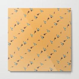 Flying Birds Upon Sunrise Metal Print