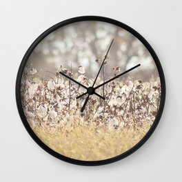 Field of Cotton Wall Clock