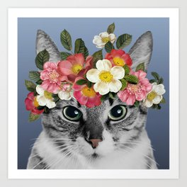 Hippie Cat 1 Art Print