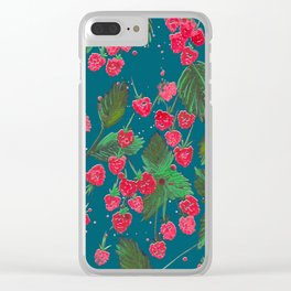 RASPBERRY Clear iPhone Case