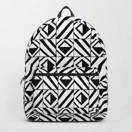 symetric tartan and gingham 8 -vichy, gingham,strip,square,geometric, sober,tartan Backpack