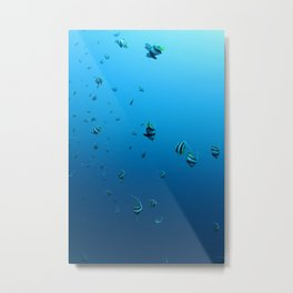 Fish Fall Metal Print
