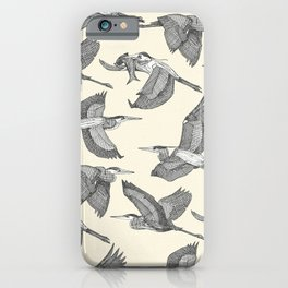 great blue herons pearl iPhone Case