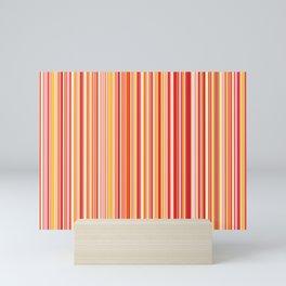 Old Skool Stripes - Red Pumpkin Mini Art Print