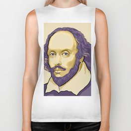 Shakespeare - royal purple and yellow Biker Tank