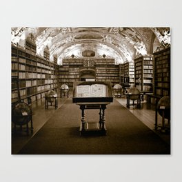 Prague Library Canvas Print