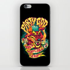 PARTY GOD (red) iPhone Skin