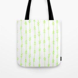 Green, Lime: Arrows Pattern Tote Bag