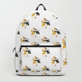 Cat with bird Painting Wall Poster Watercolor Backpack