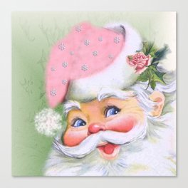 smiling retro Santa Canvas Print