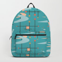 Mid Century Modern in Turquoise Backpack