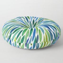 Watercolor Burst – Blue & Green Floor Pillow