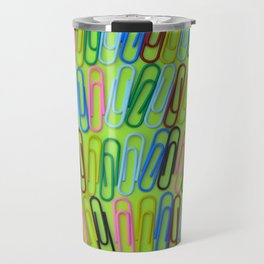 Colorful paperclips pattern Travel Mug