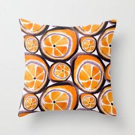 Bunch O' Orange Throw Pillow