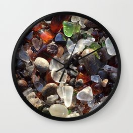 Glass beach California Wall Clock