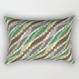 Abstract camouflage pattern. Rectangular Pillow