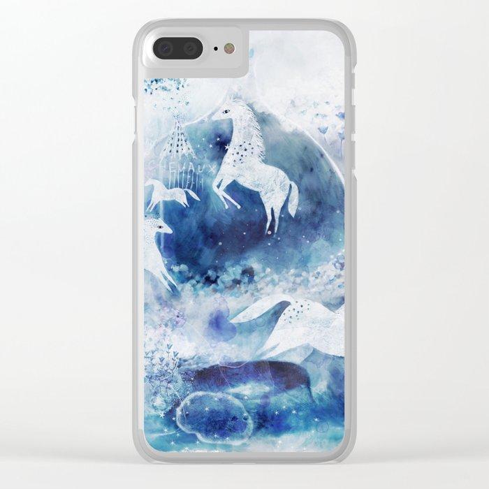 Chevaux magiques Clear iPhone Case