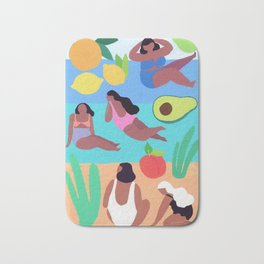Fruity Beach Bath Mat