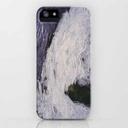 broken ice on the shore of grasmere. lake district, uk iPhone Case