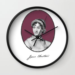 Authors - Jane Austen Wall Clock