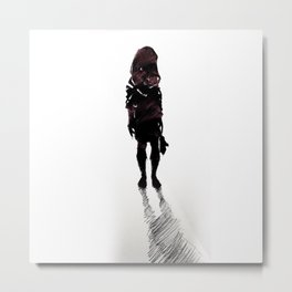 Girl with Shoes Metal Print