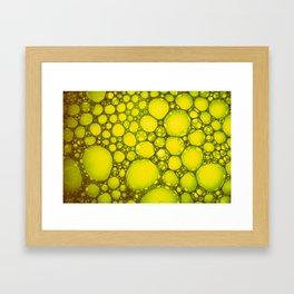 Yellow Oil Blobs on Water Framed Art Print