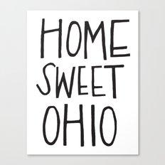 Home Sweet Ohio Canvas Print
