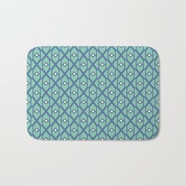Geometrical blue pattern Bath Mat