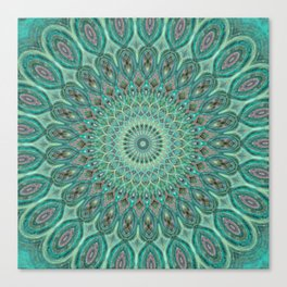 Mint Dreams Mandala Canvas Print