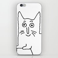 karl lagerfeld iPhone & iPod Skins featuring Karl & Choupette by cvrcak