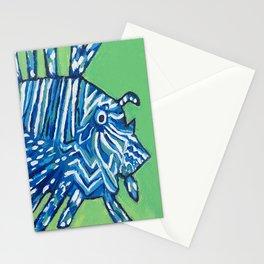 Lion Fish 2, a pretty predator & invasive species Stationery Cards