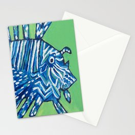 Lion Fish 2, a pretty predator & invasive species Stationery Cards