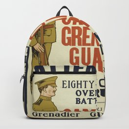 Vintage poster - Canadian Grenadier Guards Backpack