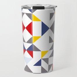 Geometric Pattern Vibes in White Travel Mug