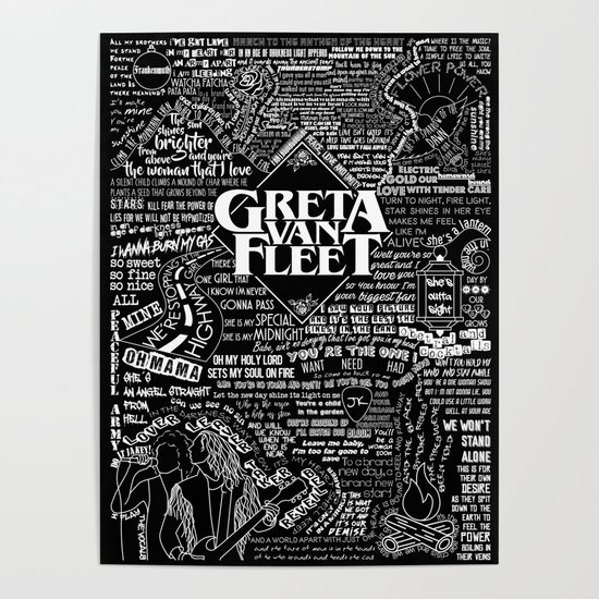 New Greta Van Fleet Silk Poster Wall Decor 24x36 Inch Custom