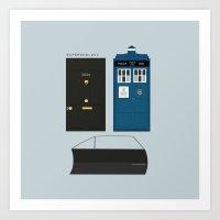 superwholock Art Prints featuring Superwholock by StudioHaa'