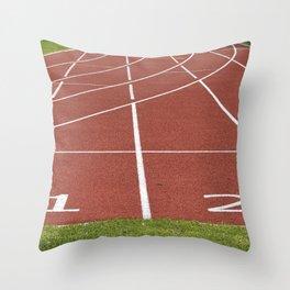 Athletics running racecourse Throw Pillow