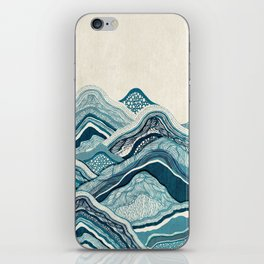 Blue Hike iPhone Skin