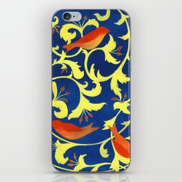 Red Bird on Yellow and Blue iPhone Skin