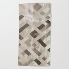 Abstract Pattern in Subtle Beach Towel
