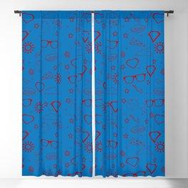 Supergirl/Kara's pattern - red Blackout Curtain
