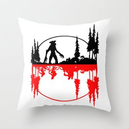 Stay Strange black and red Throw Pillow